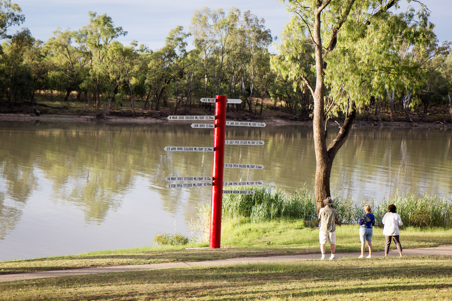 Flood Marker Pole in St George